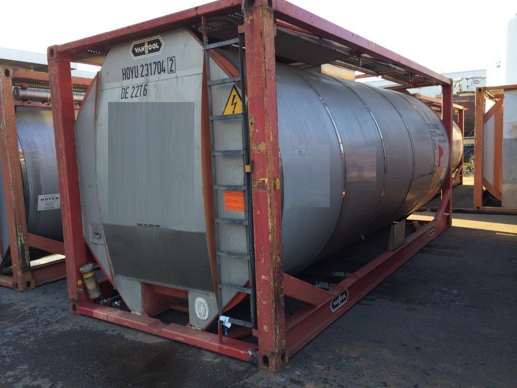 For sale 1-off 23 000 litre used tank container IMO-1/T11 in Rotterdam
