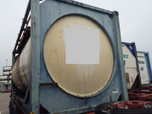 For sale 1 x 24 000 ltr IMO-1/T11 used tank container - Flaxfield