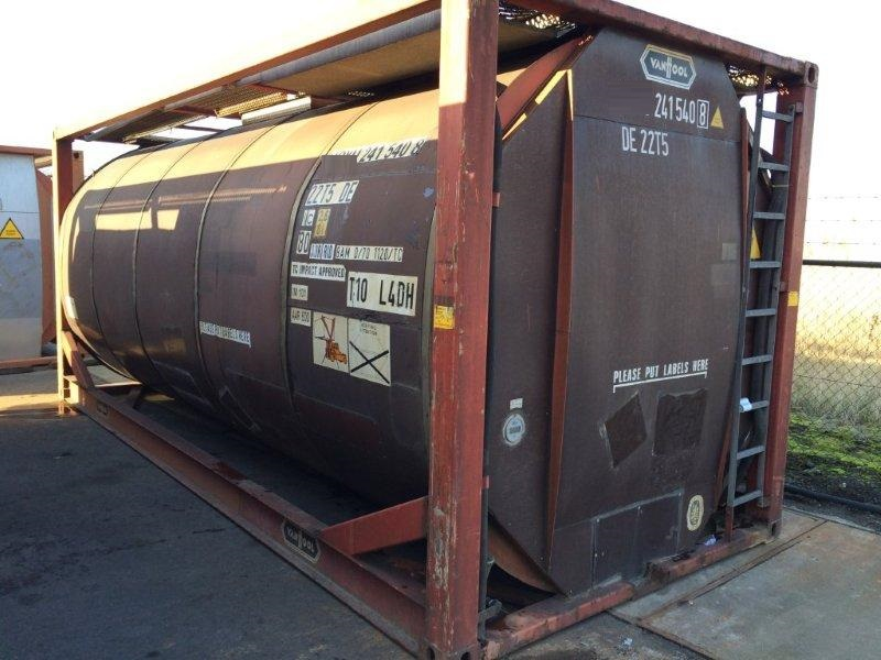 For sale in Rotterdam 6-off 24 000 ltr IMO-1/T11 used tank containers