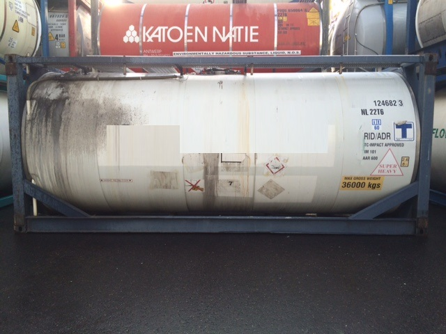 For sale in Rotterdam 3-off 24 000 litre IMO-1/T11 used tank container